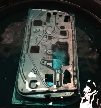 1 Ford mustang door rust inhibitor bath after acid dipping