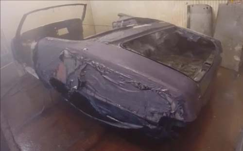 703 GTO car body after hot tank